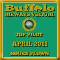 April 2011 - Top Pilot Award (Hours Flown)