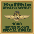 Given to pilots who have achieved the 1000 hours mark.