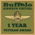 Awarded to members who have been part of Buffalo Airways Virtual for 1 year!