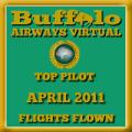 April 2011 - Top Pilot Award (Flights Flown)