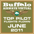 June 2011 - Top Pilot Award (Flights Flown)