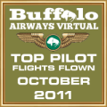 October 2011 - Top Pilot Award (Flights Flown)