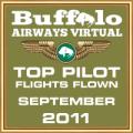 September 2011 - Top Pilot Award (Flights Flown)