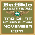 November 2011 - Top Pilot Award (Hours Flown)