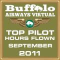 September 2011 - Top Pilot Award (Hours Flown)
