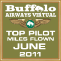 June 2011 - Top Pilot Award (Miles Flown)