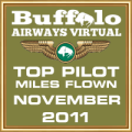 November 2011 - Top Pilot Award (Miles Flown)