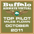 October 2011 - Top Pilot Award (Miles Flown)